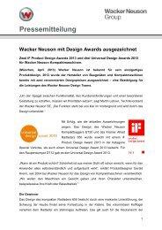 Design Awards - PDF 47 KB - Wacker Neuson SE