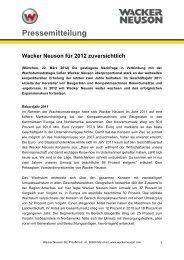 Pressemitteilung - - PDF 38 KB - Wacker Neuson SE