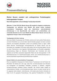 Tauchpumpen - PDF 31 KB - Wacker Neuson SE