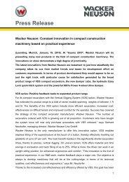 Press Release - Wacker Neuson SE