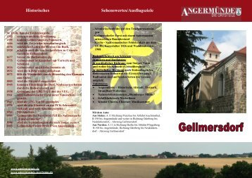 Historisches Sehenswertes/Ausflugsziele - Angermünde