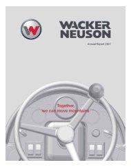 Annual Report 2007 - PDF 5.6 MB - Wacker Neuson SE
