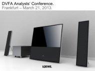 Presentation Handout 2013 (PDF) - Loewe AG > Aktuell