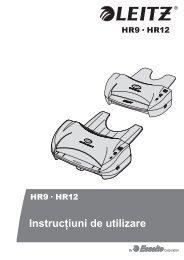 Instrucţiuni de utilizare - Esselte