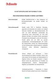 HINTERGRUNDINFORMATIO N Das Unternehmen Esselte in ...