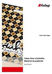Cabas / Sacs à bretelles Matériel de publicité - Folag AG Folienwerke