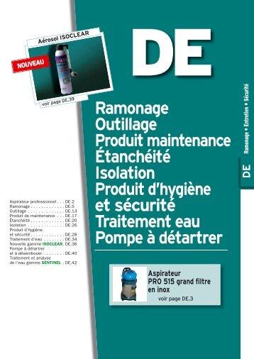 Ramonage Outillage Produit maintenance Étanchéité ... - DIFF