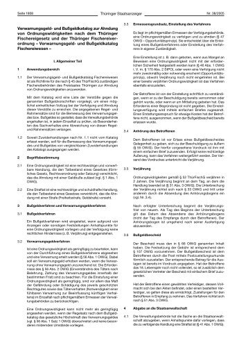 Verwarnungsgeld- und Bußgeldkatalog zur Ahndung von - Sea-Sports