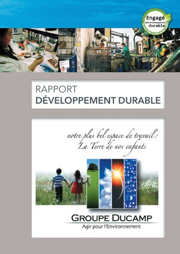 Visualiser le rapport 2012 - Groupe Ducamp