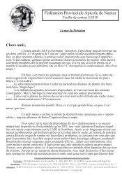 Feuille 5 - Fédération Apicole de Namur