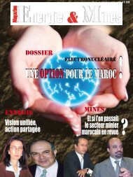 UnE OPTIOn POUR LE maROc! - Magazine Energie & Mines