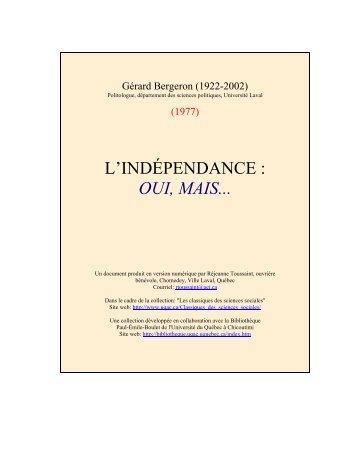 Le livre de M. Bergeron au format PDF-texte (Acrobat Reader)