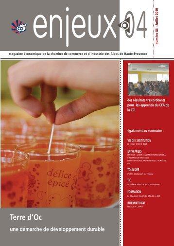 Magazine Enjeux 04 - juillet 2010 - CCI des Alpes de Haute-Provence