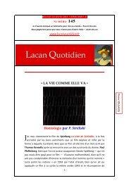LQ 145 - Lacan Quotidien