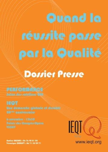 Dossier Presse - Association France Qualité Performance