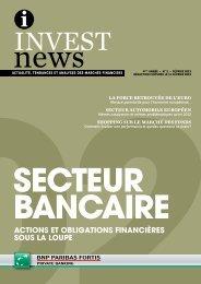 actions et obligations financières sous la loupe - BNP Paribas Fortis