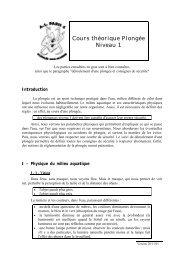 Cours théorique Plongée Niveau 1 - Blog de Plongée Sous Marine