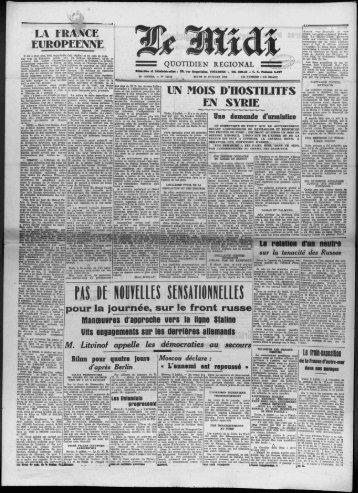 pour la journee, sur le front russe - Bibliothèque de Toulouse