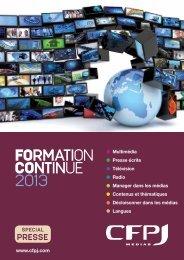 Télécharger le catalogue 2013 - CFPJ