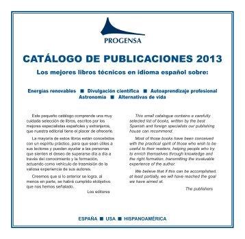 Descargar catálogo completo de todas las publicaciones ... - Progensa
