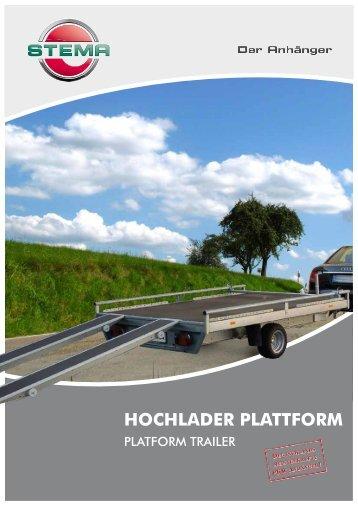 Hochlader plattform