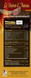 Nos cocktails - Bistrot-antoine.fr