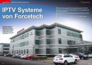 IPTV Systeme von Forcetech