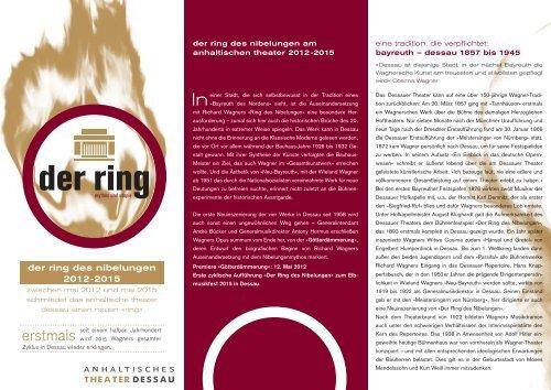der ring - Anhaltisches Theater Dessau