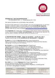 Infobrief1 seki II - Anhaltisches Theater Dessau