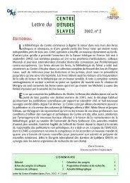LCES 2002/2 - Centre d'études slaves - Université Paris-Sorbonne