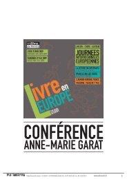 Télécharger la conférence d'Anne-Marie Garat - Le Transfo