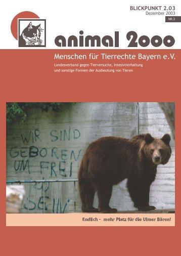 BLICKPUNKT 2.03 - Menschen für Tierrechte Bayern e.v.