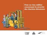 Pour ne rien oublier concernant la sécurité des chariots ... - CSST