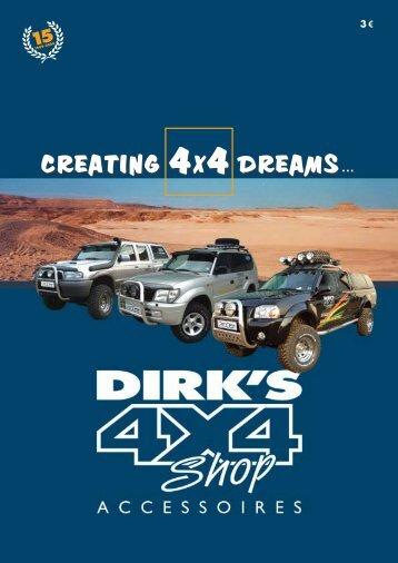creating 4x4 dreams... creating 4x4 dreams... - Dirk's 4x4 Shop