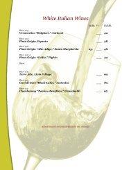 White Italian Wines