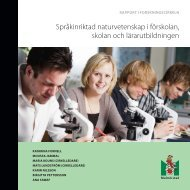 Språkinriktad naturvetenskap i förskolan, skolan och ... - Malmö stad