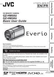 GZ-HM50U GZ-HM30U Basic User Guide