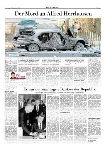 Der Mord an Alfred Herrhausen - Frankfurter Neue Presse