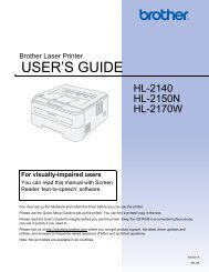 USER'S GUIDE - Brother