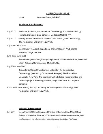 Curriculum Vitae - Rosacea Research and Development Institute
