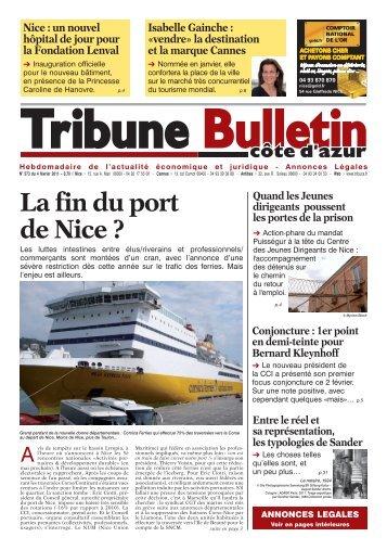 Actualité La fin du port de Nice - Tribune Bulletin Côte d'Azur