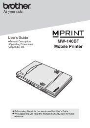 MW-140BT Mobile Printer - Van Mechelen
