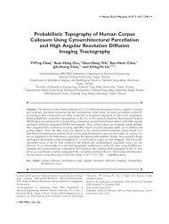 Probabilistic topography of human corpus callosum using ... - DCA