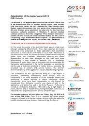 Adjudication of the AppArtAward 2012 - ZKM