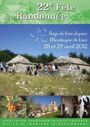 Fête de la Randonnée - Office de tourisme du Pays de Forcalquier