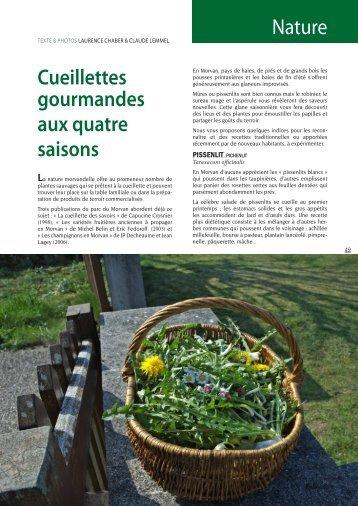 Nature Cueillettes gourmandes aux quatre saisons