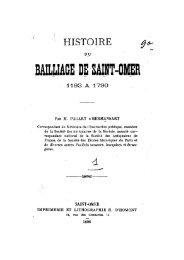 Histoire du Bailliage de Saint-Omer de 1193 à 1790 - Ouvrages ...