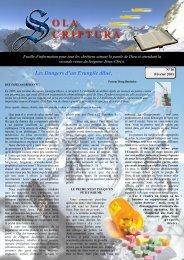 N°16 Sola Scriptura – Février 2011 - Decouvertes Etonnantes