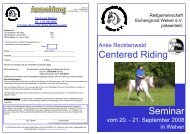 Centered Riding Seminar - Anke Recktenwald