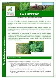 LA LUZERNE - Chambre d'Agriculture des Deux-Sèvres
